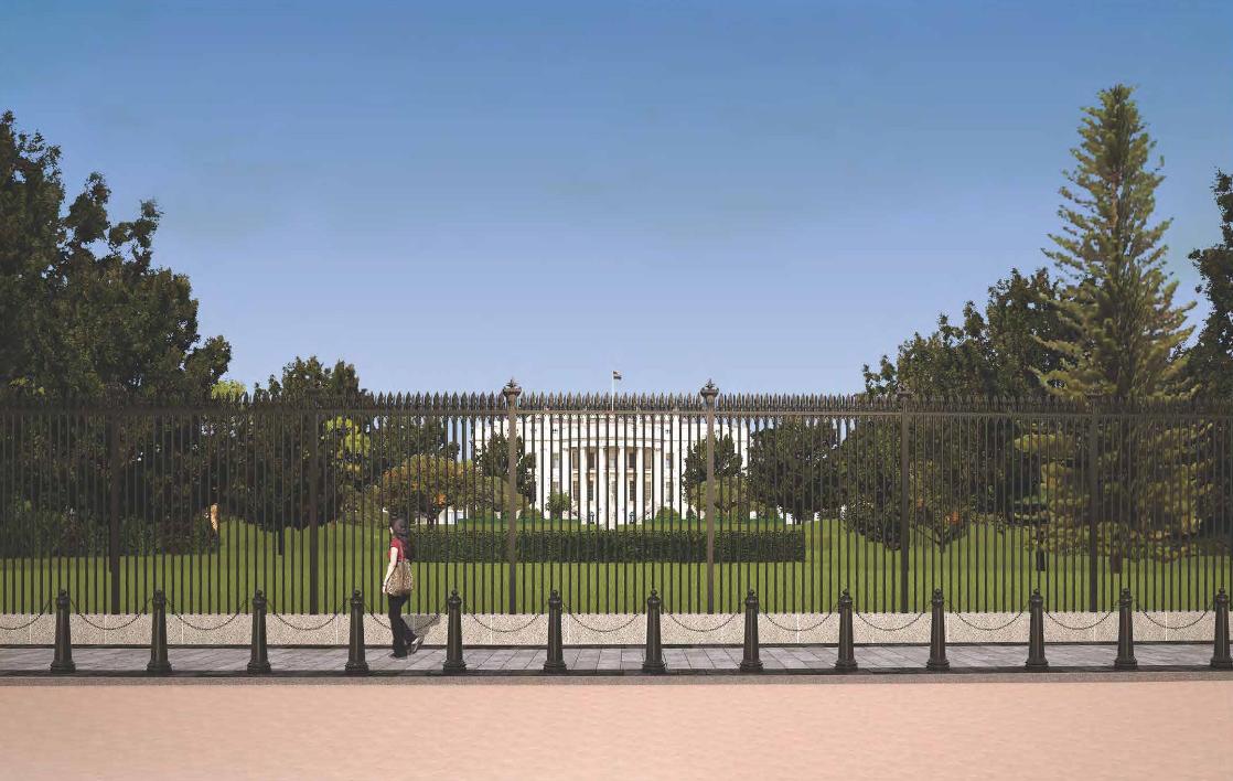 trådhegn ved det hvide hus